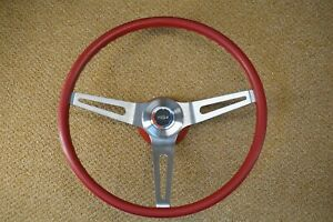69 70 Chevelle Camaro Red 3 Spoke Comfort Grip Sport Steering Wheel Gs Gto 442