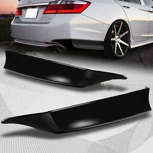 For 2013 2015 Honda Accord 4 dr Hfp style Black Rear Bumper Spoiler Lip 2pc