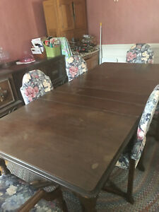 Antique 1920 S 10 Piece Grand Rapids Mfg Co Dining Room Set 6 Chairs