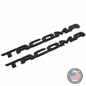 2pcs 15 19 Black Tacoma Letter Side Fender Nameplate Emblem Badge Logo Tailgate