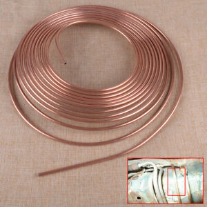 25 Ft Roll Coil 3 16 Od Copper Nickel Brake Line Tubing Kit W 16pcs Fittings
