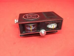 Vintage Compass And Barometer Dash Panel Toyota Fiat Chevrolet Truck
