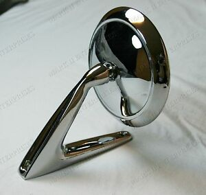 1961 1962 Thunderbird T Bird Mirror Left Or Right Side With Round Head New