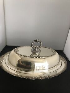 Silver Serving Covered Dish