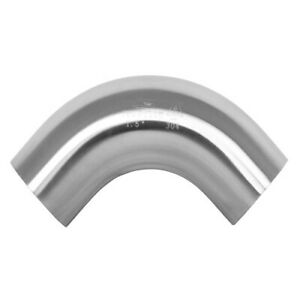 90 Degree Sanitary Stainless Steel Elbow Long Bend Weld Fitting 2 5 304