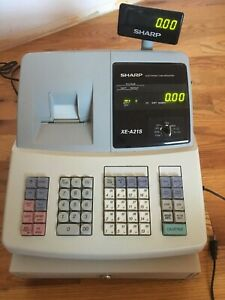 Sharp Electronic Cash Register xe a21s Missing A Key From The Coin Drawer