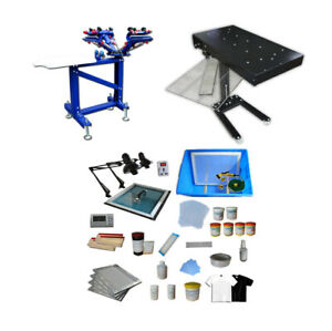 4 Color Silk Screen Printing Kit Press Equipment Pressing Diy Easy To Operate