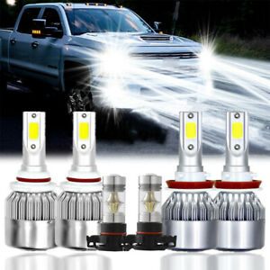 6x 6000k Led Headlight Fog Light Bulbs For Chevy Silverado 1500 2500 2007 2015