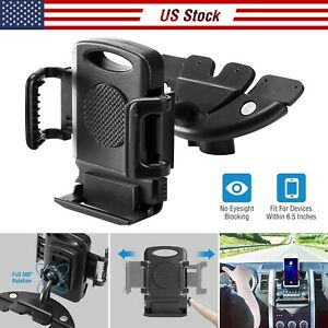 Cd Slot Car Phone Holder Magnetic Cradle Mount 360 Rotation For Iphone Xs Xr Xs