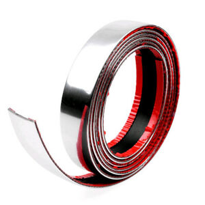 Diy Car Exterior Chrome Adhesive Strip Trim Molding Styling Decoration 2 5m 30mm