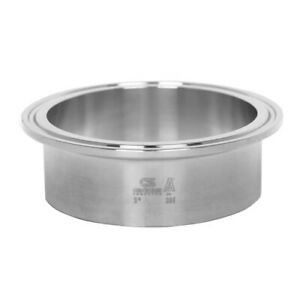 Sanitary Stainless Steel Long Ferrule Tri clamp Fitting 4 316l