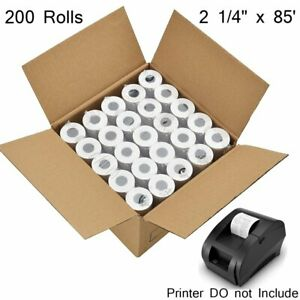 200 Rolls 2 1 4 X 85 Thermal Paper Credit Card Pos Cash Register Receipt Paper