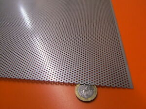Perforated 304 Stainless Steel Sheet 024 Thick X 24 X 24 062 Hole Dia