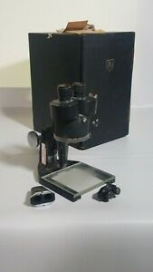 Vintage Spencer Buffalo American Optical Microscope With Case