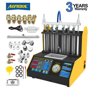 Autool Ct150 Ct200 Fuel Injector Cleaner Tester Ultrasonic 4 6 Cylinder Us Stock