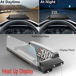 Head Up Display Projector Car Speedometer Universal Auto Hud Gps Detector Obd2