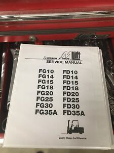 Best Mitsubishi Forklift Fg25 Fd25 Fg20 Fd20 Service Repair Shop Manual Book