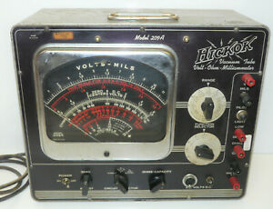 Hickok Model 209a Multimeter Ohmmeter Vacuum Tube Tester Powers On untested Inv