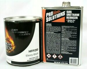 Black Urethane Basecoat Paint And Reducer Gm Wa8555 Gallon Hfp250 High Teck