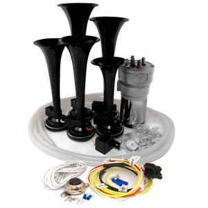 Dixie Car Air Horns Black Dukes Of Hazzard With Horn Button And Install Kit
