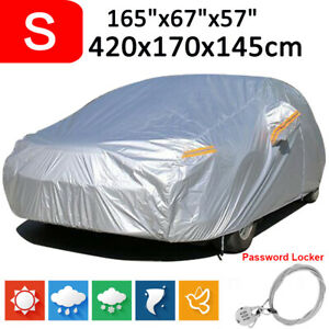 Small 190t Full Car Cover Waterproof Outdoor Dust Scratch Uv Resistant For Sedan