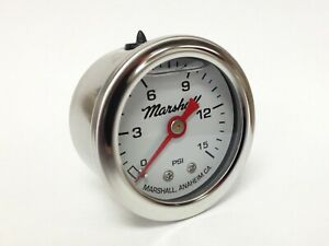 Marshall 1 5 Direct Mount Liquid Filled Fuel Pressure Gauge Cw00015