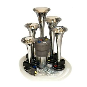 Dixie Car Air Horns Chrome Dukes Of Hazzard With High Output Compressor