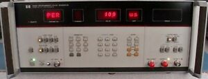 Hp Agilent 8160a 50 Mhz Programmable Pulse Generator W opt 020 Calibrated