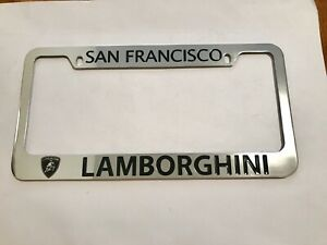 San Francisco Lamborghini Car Dealer License Plate Frame