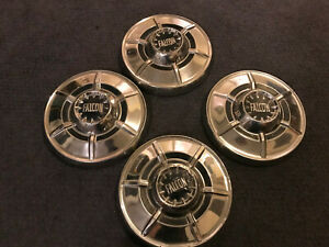 Ford Falcon Poverty Hubcaps Set Dish Free Shipping