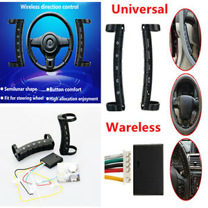 2x Universal Car Steering Wheel Button Remote Control 10 Key For Stereo Dvd Gps