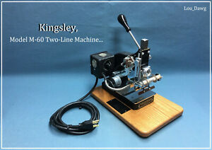 Kingsley Machine Model M 60 Two Line Machine Hot Foil Stamping Machine