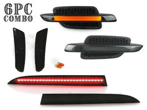 Fit Pontiac G8 Smoke 3 Combo Led Lights Fender Bumper Side Marker Rear Reflector
