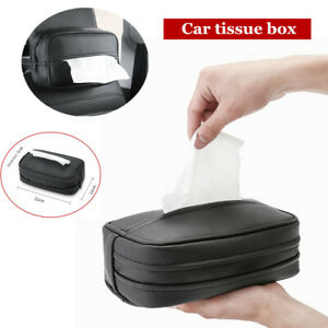 Multi function Car Hanging Tissue Box Tray Fiber Leather Tissue Extraction Box