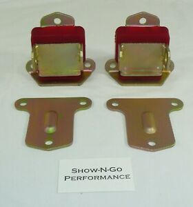 Small Block Big Block Chevy Motor Mounts Red Urethane High Performance 1 Pair