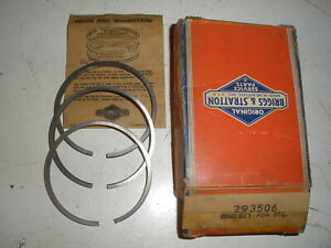 Briggs Stratton Gas Engine Ring Set 293506 New Old Stock Vintage