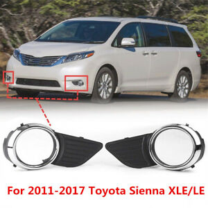 Front Bumper Fog Light Bezel Cover Trim For 2011 2017 Toyota Sienna Base Xle Le