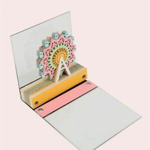 Sticky Note 3d Ferris Wheel Memo Pads Bookmark Stickers Card Decor Office Supply