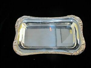 Neiman Marcus Silverplated Shell Gadroon 12 Serving Dish Tray