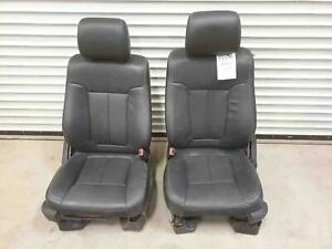 Front Seats Ford Pickup F150 Black Leather Heated Cooled 2011 14 Used Oem