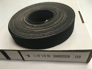 1 1 2 X 25 Yards Sand Screen 120 Grit Open Weave Plumbers Mesh Roll