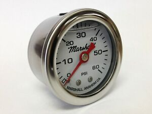 Marshall 1 5 Liquid Filled Oil Pressure Fuel Pressure Gauge Cw00060