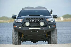 4x4 Front Winch Bumper For 2016 To 2018 Toyota Tacoma 4x4 Bare Steel Dobinsons