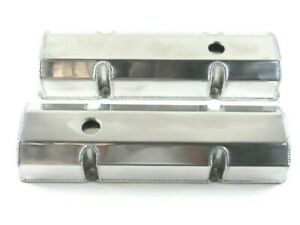 Small Block Chevy Sbc 350 Fabricated Tall Valve Covers Polished Bpe 2303p