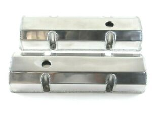 Small Block Chevy Sbc 350 Fabricated Tall Valve Covers Polished E41303p