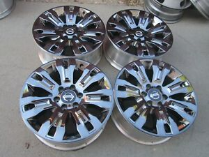 20 Nissan Titan Armada Chrome 6x5 5 Oem Factory Stock Wheels Rims Pro4x