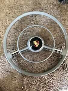 New Porsche 356a T5 A Steering Wheel Light Gray Coupe Cabriolet With Used Button