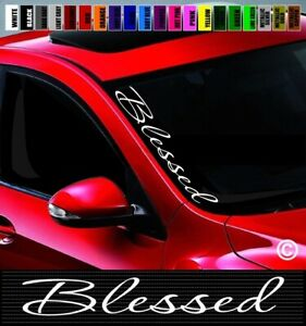 20 Blessed 1 Christian Car Decal Sticker Side Windshield Banner Racing Jdm Kdm