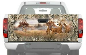 Whitetail Buck Skull Camo Rear Tailgate Graphics Truck Hunting Decal Vinyl Wrap