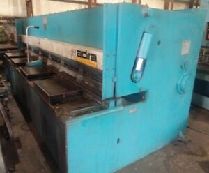 Adira Hydraulic Power Shear 13 Ft X 1 4 Mild Steel Or 13 Ft X 3 16 Stainles